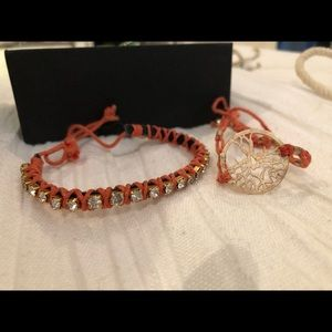 Jewelry - Pink and gold bracelets